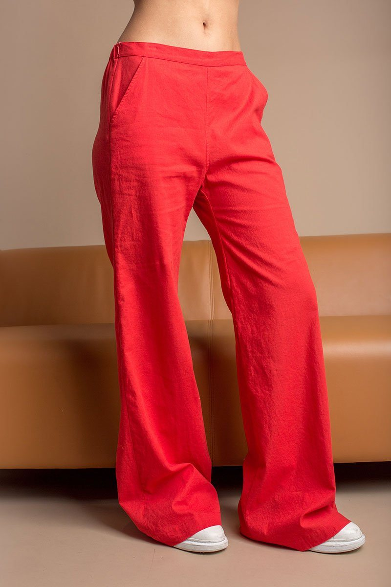 Apple High Waisted Wide Leg Pants
