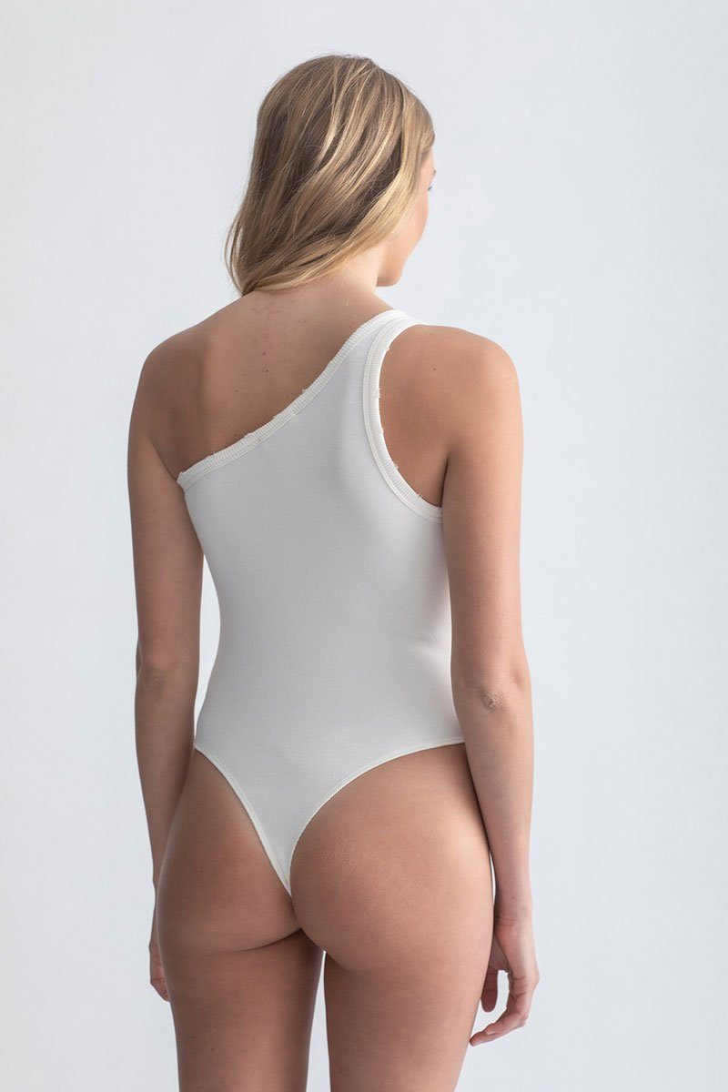 One Shoulder Bodysuit Ivory