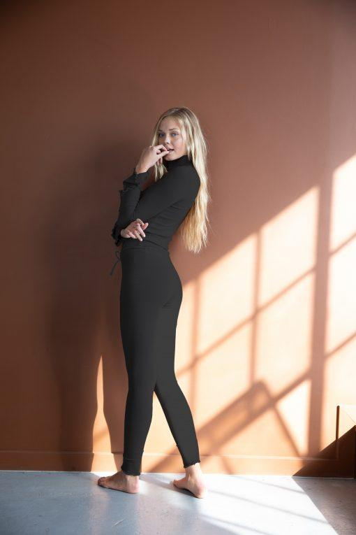 Leggings - Skinny Fit, Lettuce Edge  | AMVI Collection