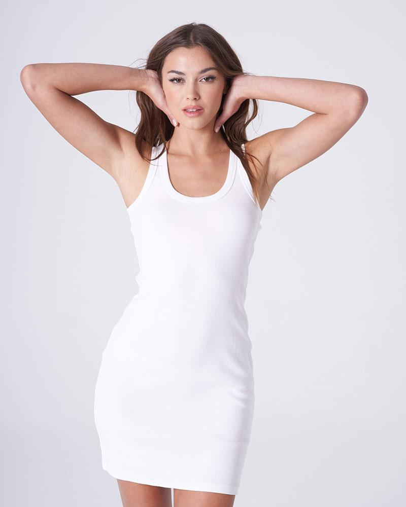 White Basic Tank Dress