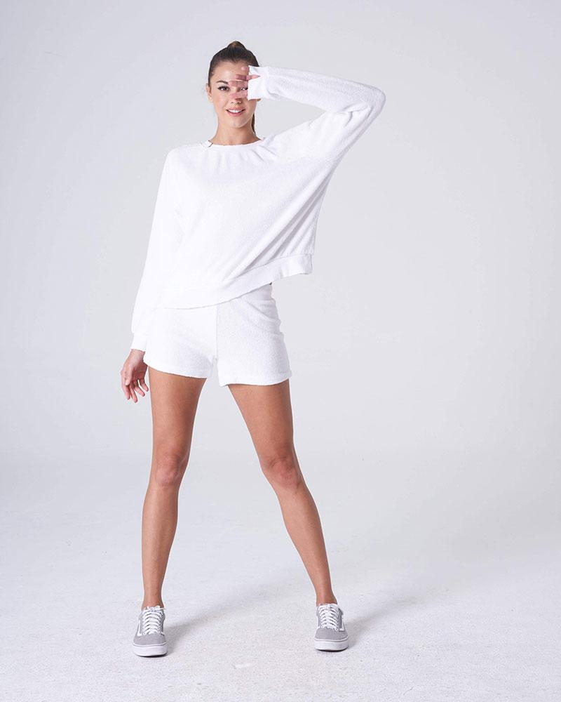 White Gym Pullover