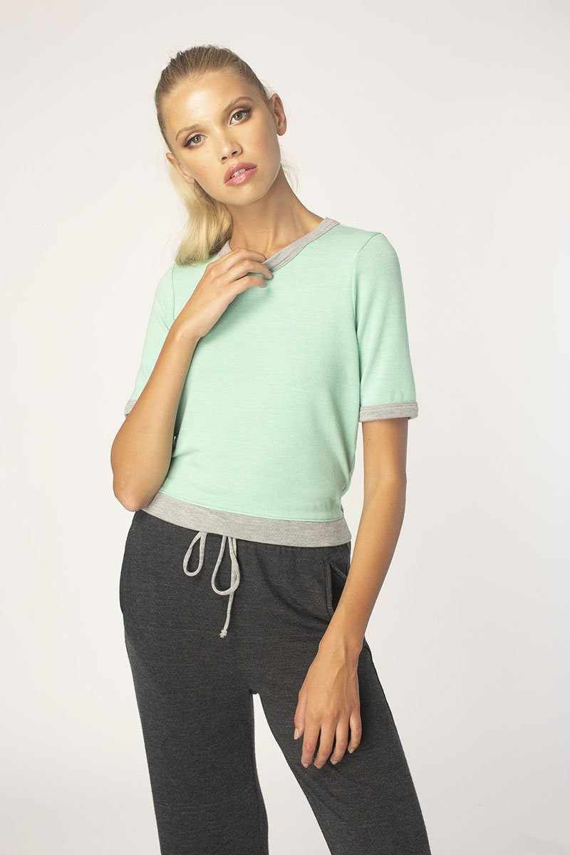 Neo Mint Blocked Short Sleeve Tee