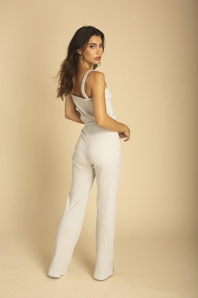 Heather Grey Rib Pant