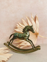 Load image into Gallery viewer, Brass Rocking Horse