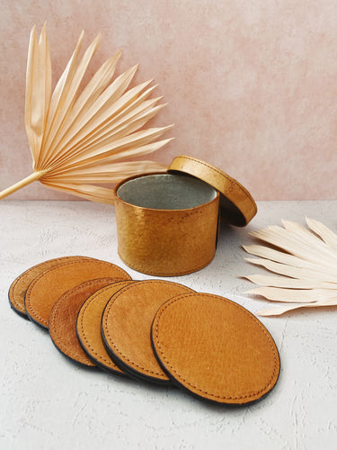 Set of Leather Coasters