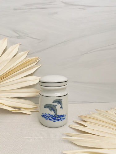 Dolphin Ceramic Jar