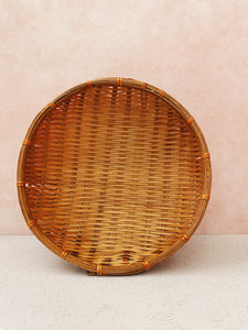 Orange-Brown Wicker Basket