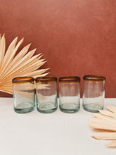 Load image into Gallery viewer, Set of 4 Glass Blown Cups
