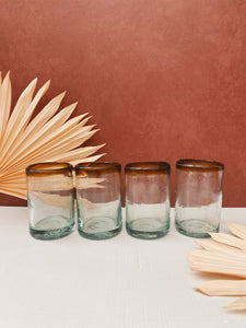 Set of 4 Glass Blown Cups