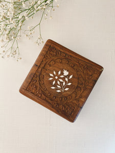 Carved Square Box