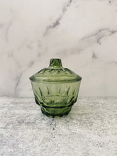 Load image into Gallery viewer, Green Glass Dish with Lid