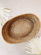Load image into Gallery viewer, Wood and Rattan Basket