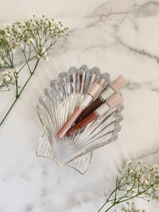 Vintage Glass Seashell Dish