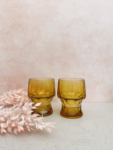 Set of 2 Amber Glasses
