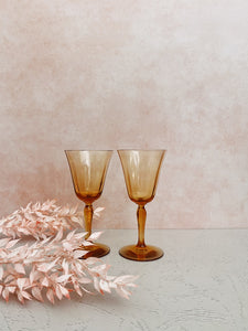 Set of 2 Rosy Orange Glasses