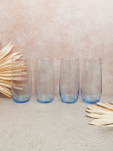 Set of 4 Baby Blue Glasses