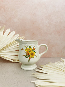 Yellow Flower Creamer and Sugar Bowl