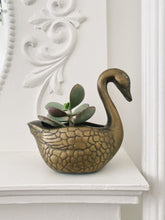 Load image into Gallery viewer, Brass Swan Planter