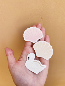 Swan and Shell Sticker Pack