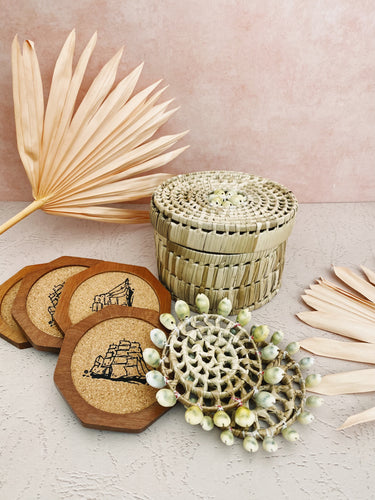 Seashell and Boat Coaster Set