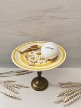 Load image into Gallery viewer, Yellow Plate Pedestal Dish