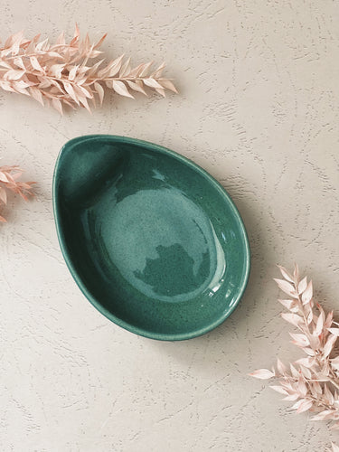 Midcentury Green Bowl