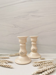 Floral Candlestick Holders