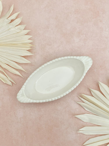White Oval Ceramic Dish