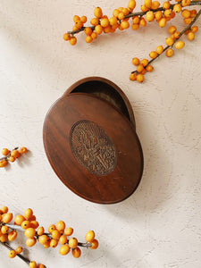 Oval Wooden Box