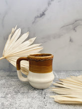 Load image into Gallery viewer, Two-Toned Beige and White Mug