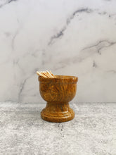 Load image into Gallery viewer, Brown Marbled Pedestal Dish
