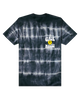 JUST SMILE TIE DYE TEE - BLACK