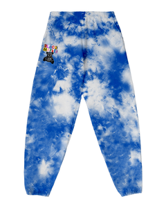 RANSOM TIE DYE SWEAT PANTS - BLUE