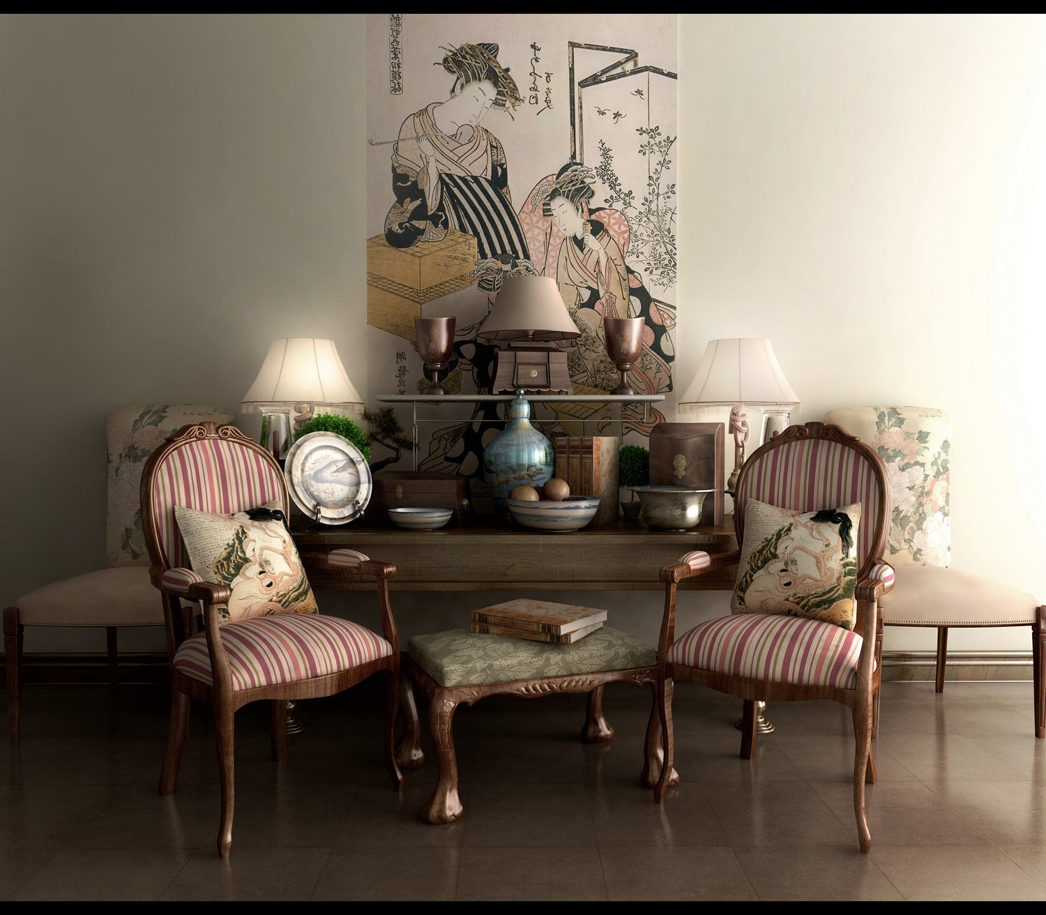 How to Decorate Using Oriental Table Lamps