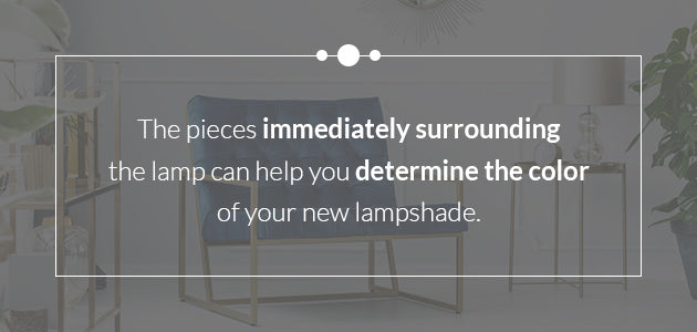 surrounding furniture can help you pick your lampshade fabric