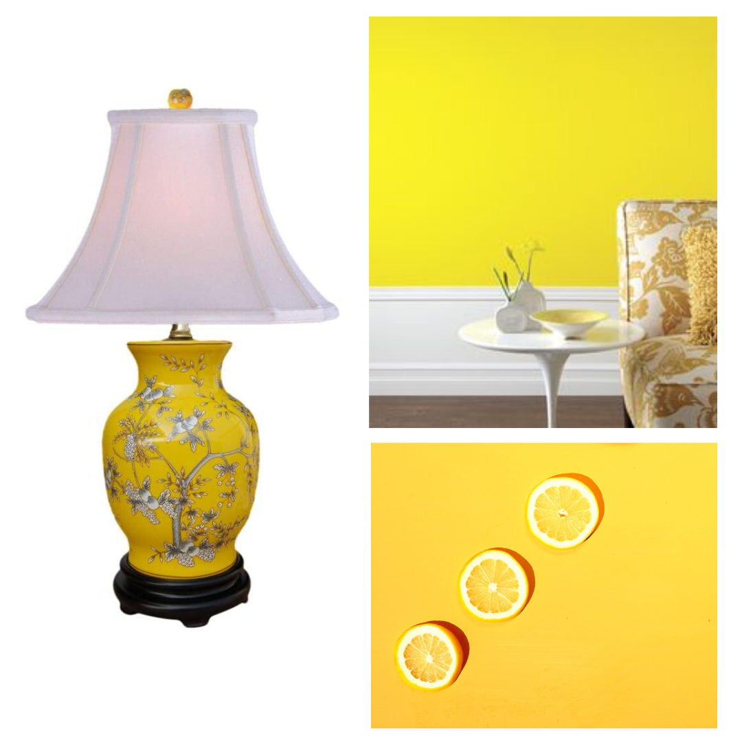 yellow table lamp english style