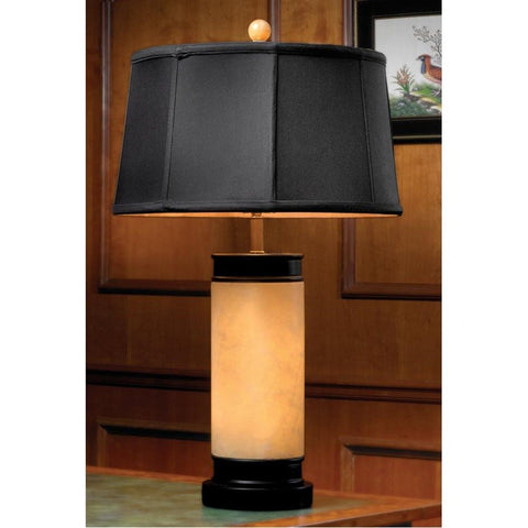 style home with jade table lamp
