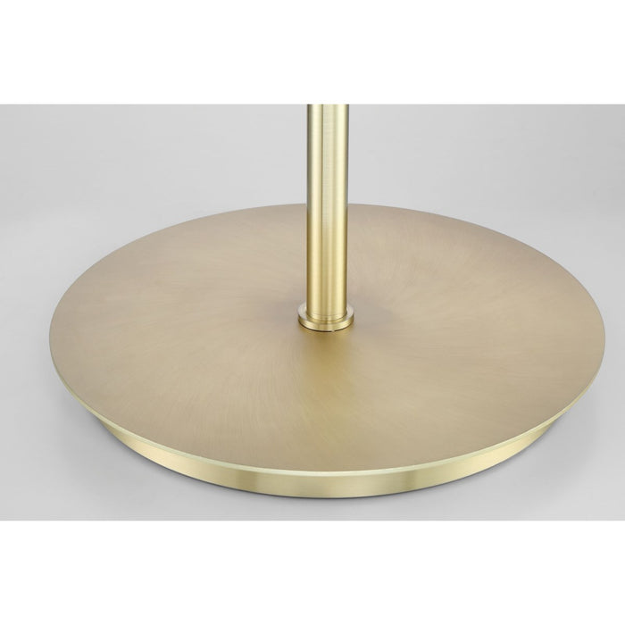 X3 Floor Lamp in Satin Brass with White Shade