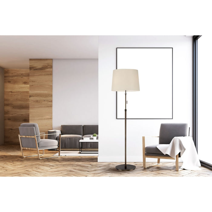 X3 Floor Lamp in Bronze with White Shade