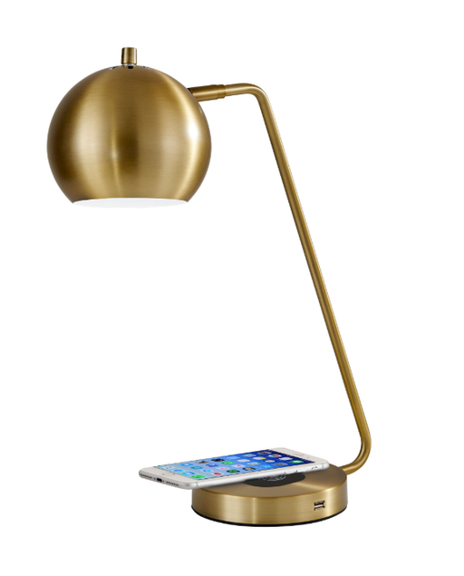 Emerson Antique Brass Desk Lamp