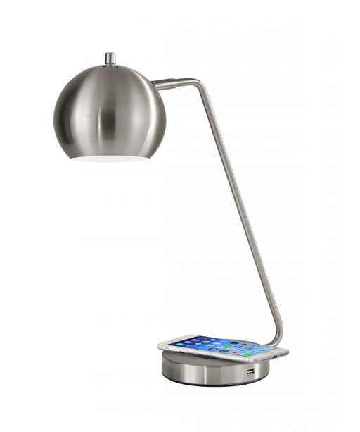 Emerson Brushed Steel Desk Lamp