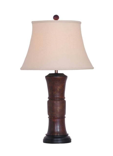 Solid brown Jade Ring Vase Table Lamp