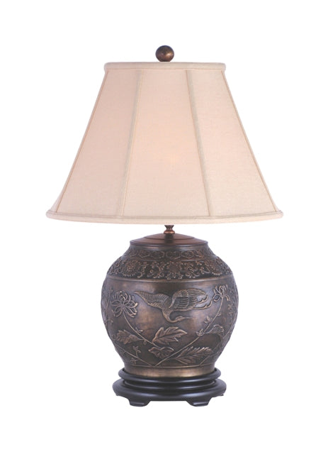 Solid Casting Bronze Urn Table Lamp