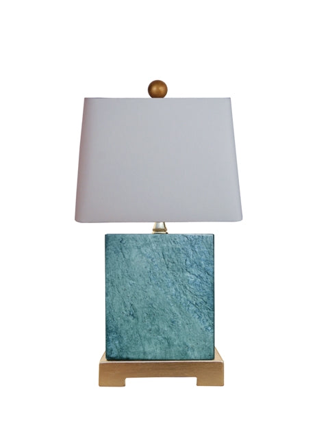 Mini Jade Blue Table Lamp