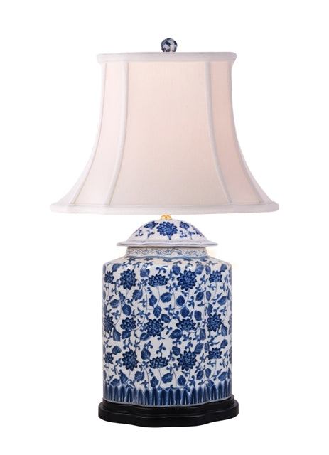 Porcelain Dover Scalloped Tea Jar Table Lamp