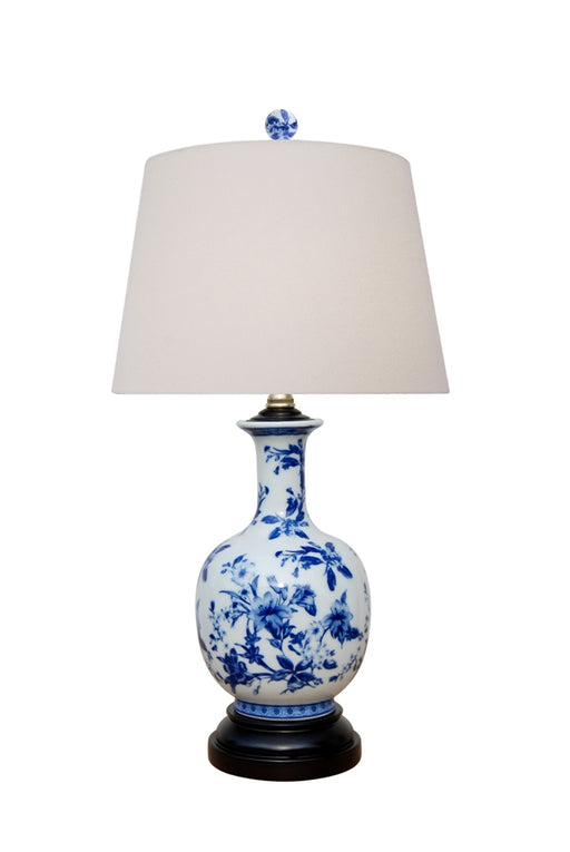 Porcelain Blue & White Floral Vase Table Lamp