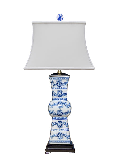 Blue & White Porcelain European Styled Vase Table Lamp