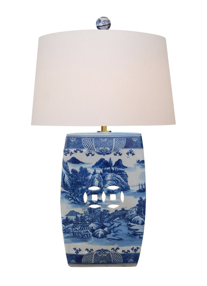 Real Porcelain Canton Table Lamp