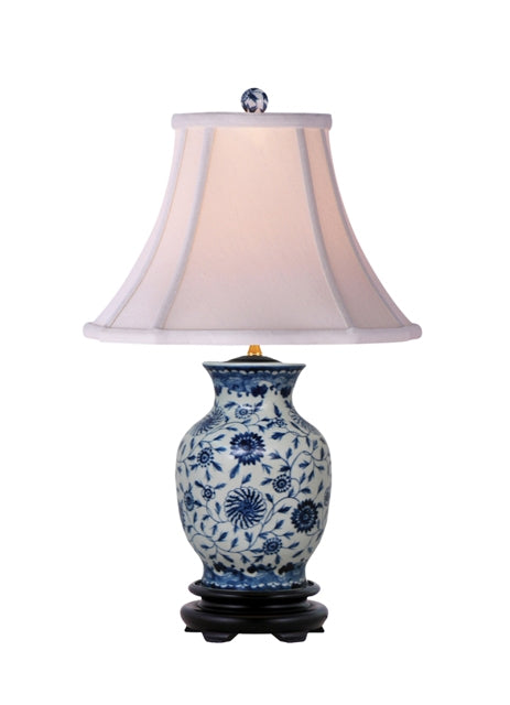 B&W Porcelain Table Lamp