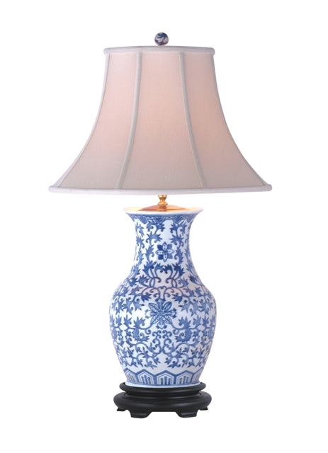 Blue and White Frederick Porcelain Vase Table Lamp